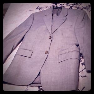 Men's tan suit with coat and pant